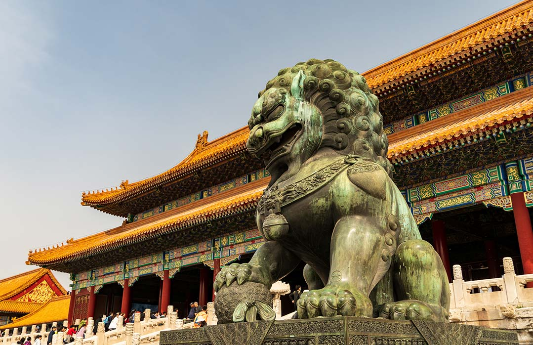 Lion at Forbidden City