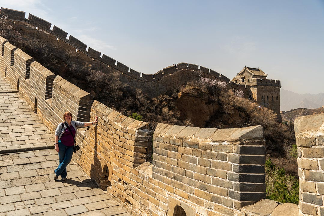 Kathryn Foster at th Great Wall, Jinshangling