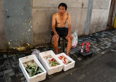 Goldfish Vender in the Hutong