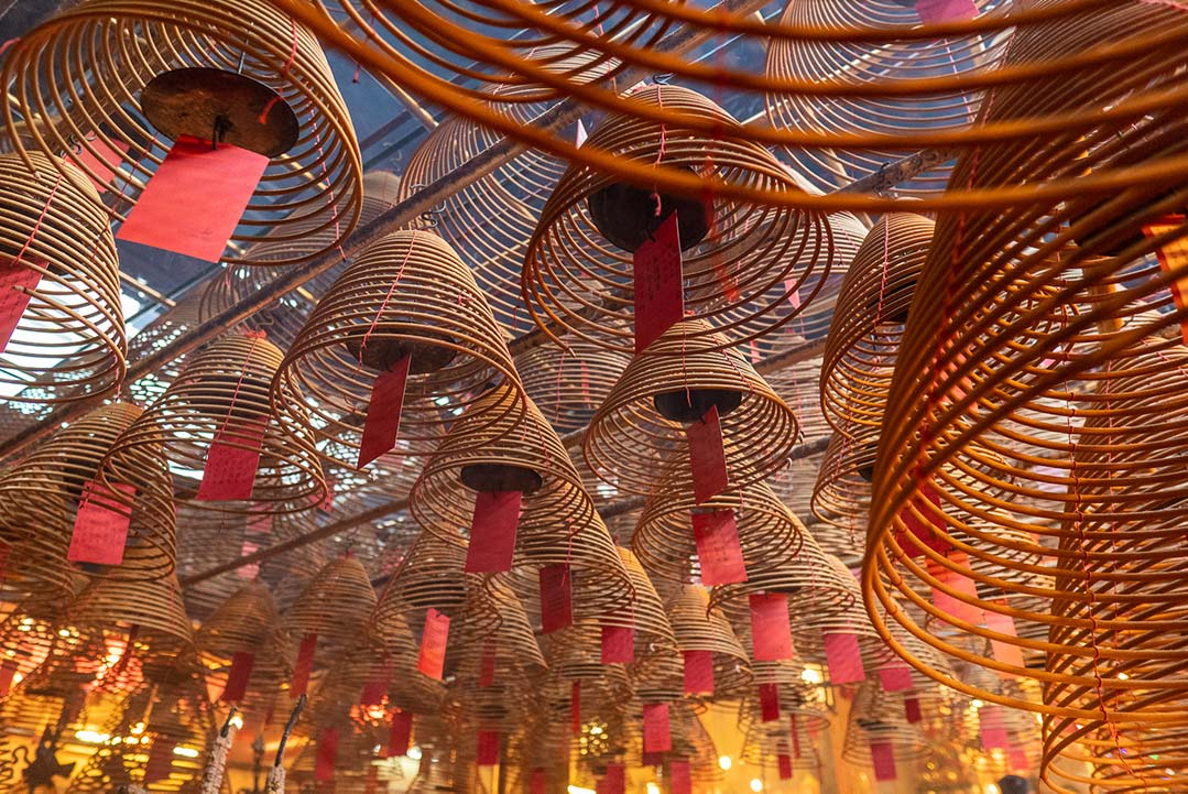 Hong Kong - Man Mo Temple, Hanging incense