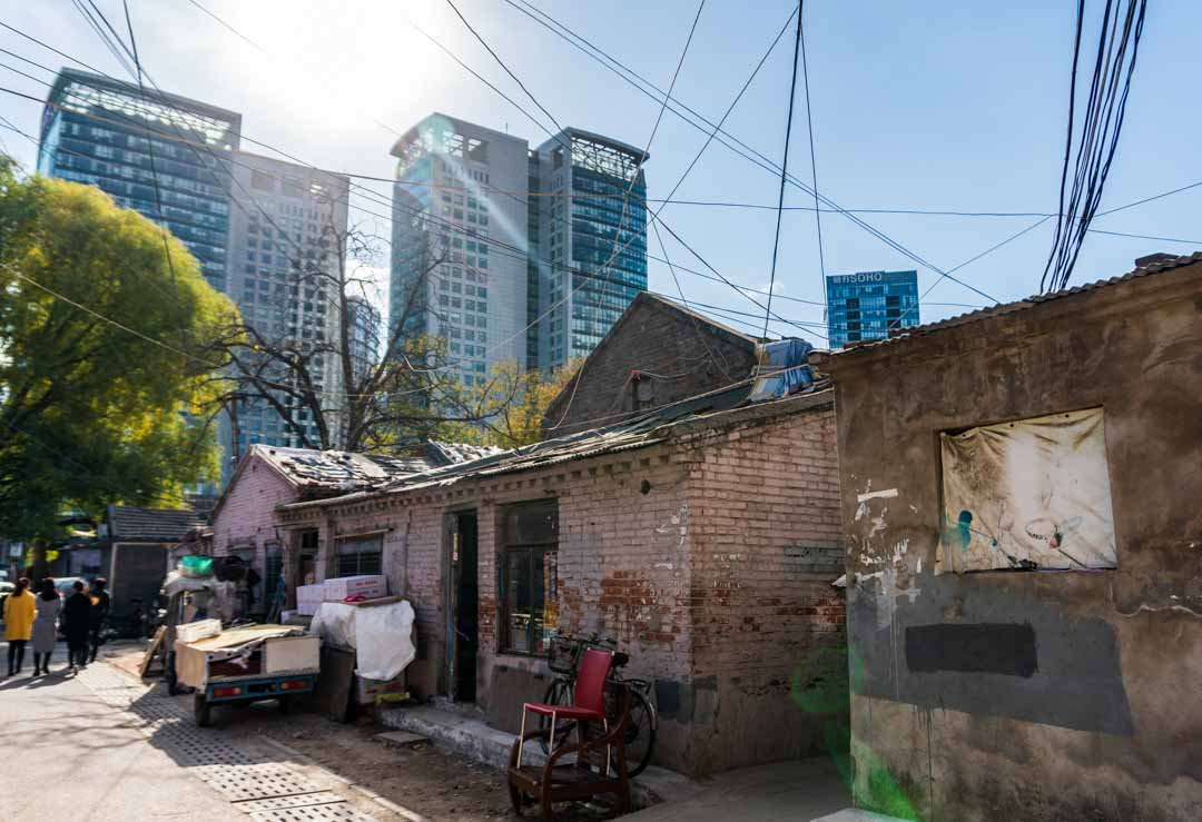 Hutong Barbershop and residences  from the cross roads
