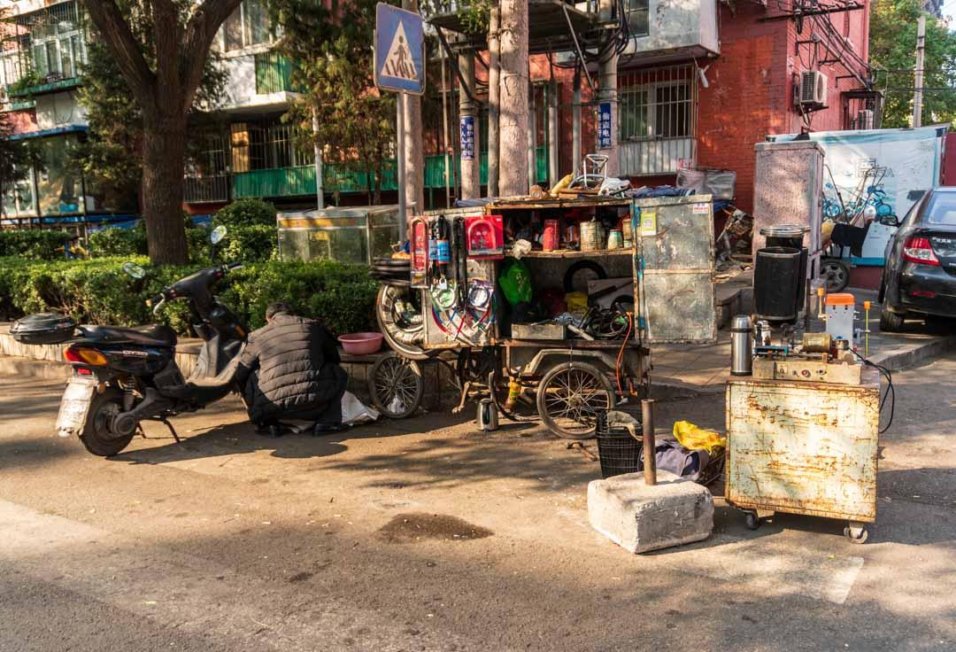 Roadside Bike Repair Shop